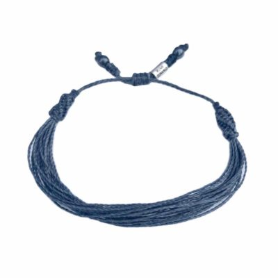 String Surfer Bracelet Navy Blue: Rumi Sumaq Jewelry Handmade on the Vineyard