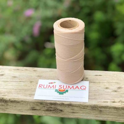 548   Rumi Sumaq Ivory Waxed Cord for Quilting, Macrame Knotting, Beading Projects, Leather Working, and Quilting.