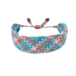 Pastel Friendship Bracelet - Hand-knotted Macrame Beach Jewelry by Designer Coco Paniora Salinas of RUMI SUMAQ. Handmade on Martha's Vineyard.