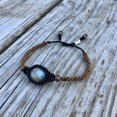 Peruvian Blue Opal Bracelet | Macrame Gemstone Bracelets