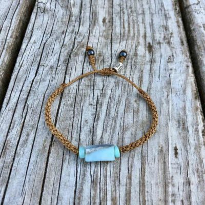 Blue Peruvian Opal Bracelet | RUMI SUMAQ Jewelry Handmade on Martha's Vineyard by Designer Coco Paniora Salinas