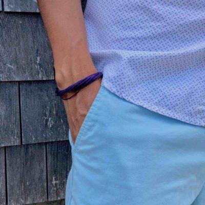 Purple Awareness Bracelet for Alzheimer's, Lupus, Epilepsy Awareness | RUMI SUMAQ Aware Bracelets
