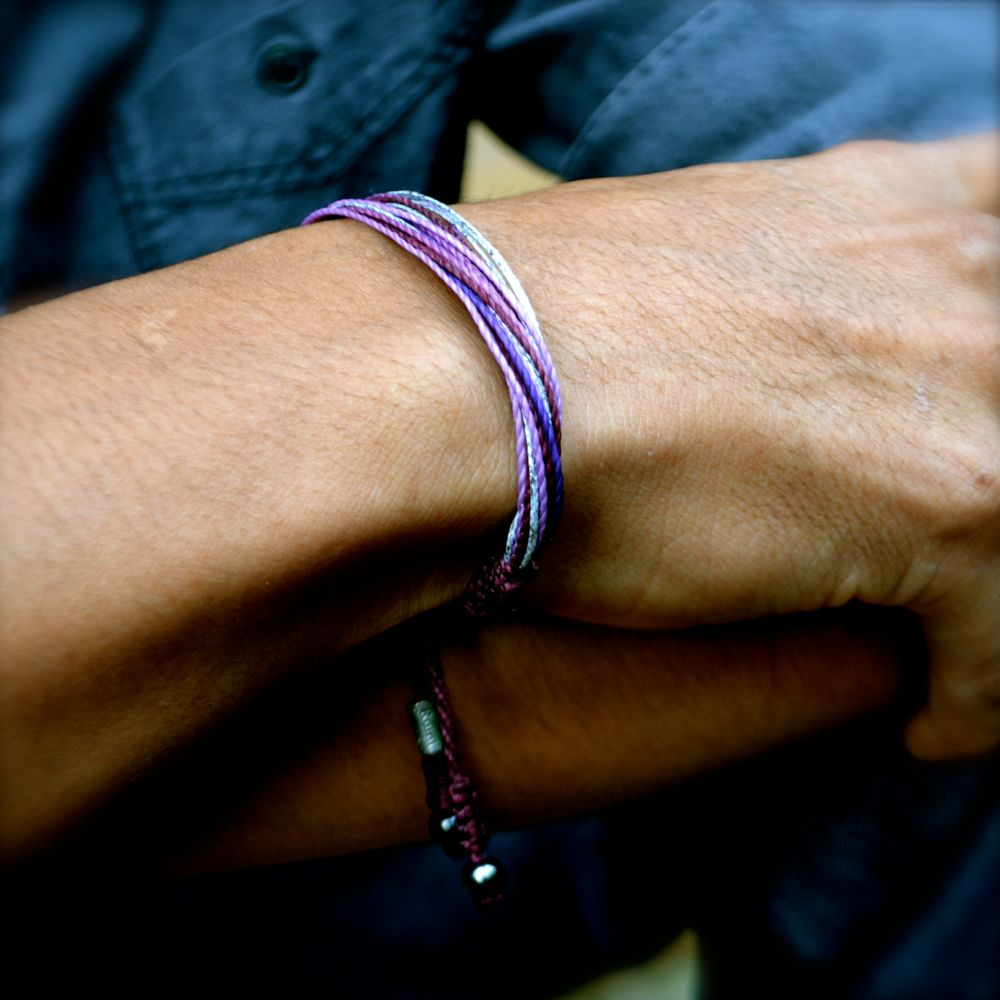 Purple Awareness Bracelet by Rumi Sumaq rumisumaq.com