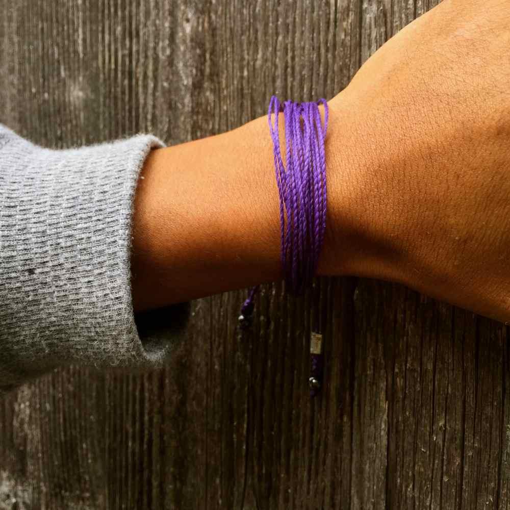 Purple Awareness Bracelet: Handmade on the Island of Martha's Vineyard