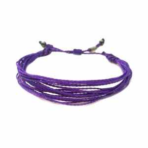 Purple Awareness Bracelet: Handmade on the Island of Martha's Vineyard