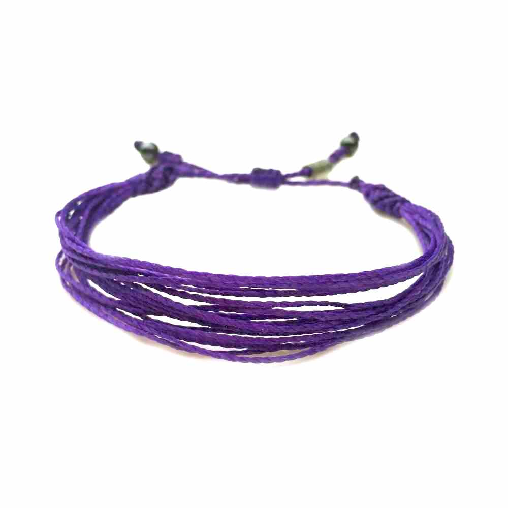 Purple String Bracelet