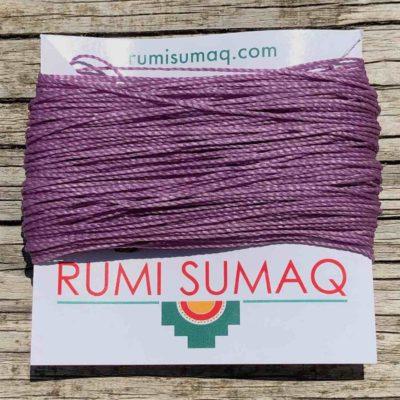 Purple Waxed Cord Linhasita 236 Lilac | Rumi Sumaq Waxed Threads Hilo Encerado Morado