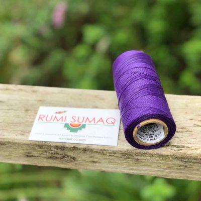 Purple Waxed Polyester Cord Linhasita 369 | Rumi Sumaq Purple Waxed Thread Hilo Encerado Morado