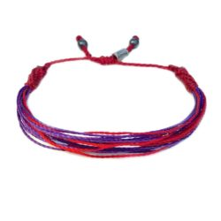 RUMI SUMAQ Red and Purple Awareness Bracelet for Chronic Migraine, DSRCT Desmoplastic Round Cell Tumor and Raynaud's Phenomenon