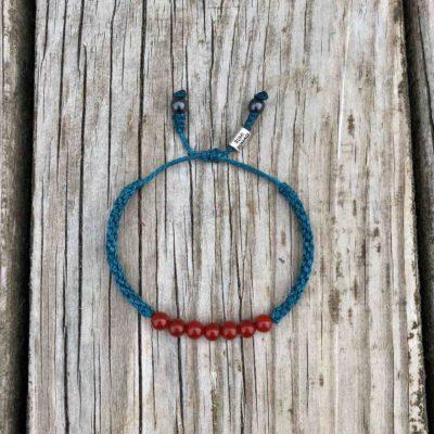 Red Fire Agate Stone Bracelet | Rumi Sumaq Macrame Gemstone Jewelry