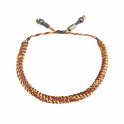 Red Yellow Bracelet | Rumi Sumaq Nautical Sailor Rope Bracelets Hand-Knotted on Martha's Vineyard