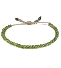 Sailor rope bracelet gray green: RUMI SUMAQ jewelry hand-knotted on the beautiful island of Martha's Vineyard