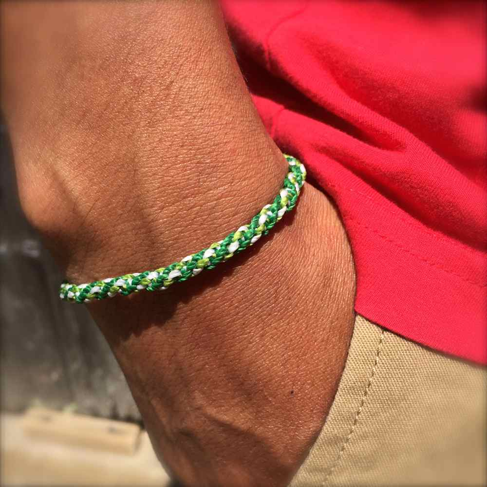 Sailor Rope Bracelet Green: Rumi Sumaq Sailor and Surfer Bracelets Handmade on Martha's Vineyard