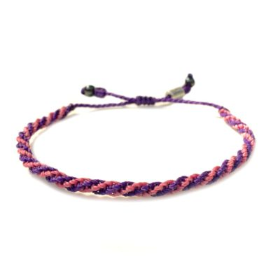 Sailor rope bracelet purple pink - RUMI SUMAQ nautical rope jewelry handcrafted on the beautiful island of Martha's Vin