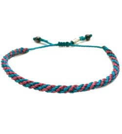 Sailor Rope Bracelet Teal Blue Violet by Rumi Sumaq