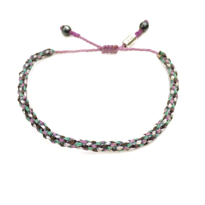 Sailor Rope Bracelet Violet Aqua Brown: Rumi Sumaq Nautical Sailor Rope Bracelets