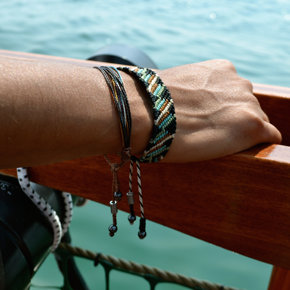Sampaq macrame bracelet by designer Coco Paniora Salinas of Rumi Sumaq