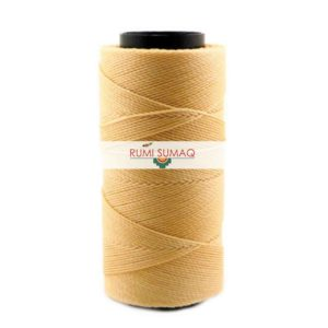 Settanyl 01-118 Golden Wheat Waxed Polyester Cord 1mm Waxed Thread | RUMI SUMAQ Cords for Macrame Jewelry, Basket Weaving, Leather Working, Quilting, and Beading Projects.