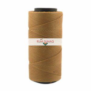 Settanyl 01-373 Paper Bag Brown Waxed Polyester Cord 1mm | RUMI SUMAQ Waxed Thread