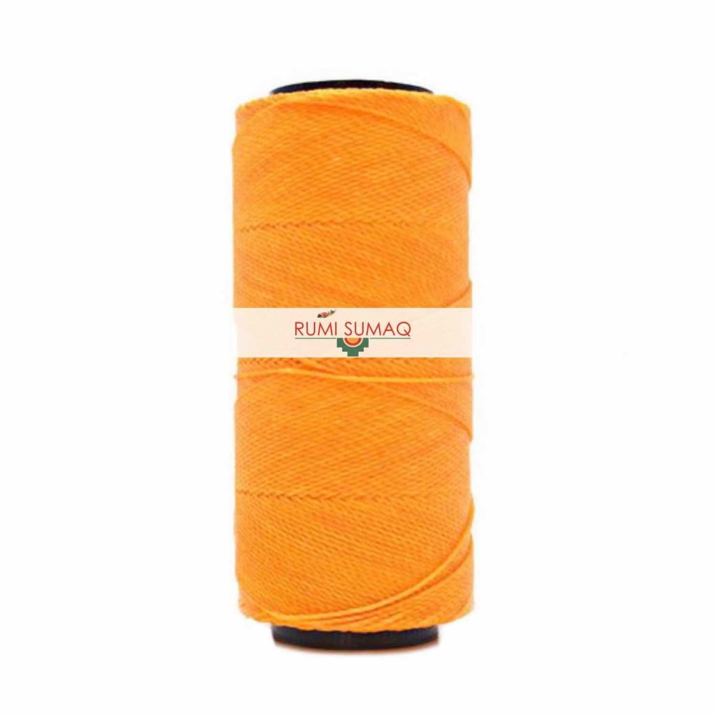 Settanyl 02-274 Clementine 1mm Waxed Polyester Cord | RUMI SUMAQ Waxed Threads for Macrame Knotting, Beading, Quilting, Leather Working and Basket Making