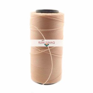Settanyl 02-366 Blush Waxed Polyester Cord | RUMI SUMAQ Waxed Cord for Macrame, Knotting, Beading, Basket Weaving, Leather Working, Hand Stitching, Quilting and Jewelry Making