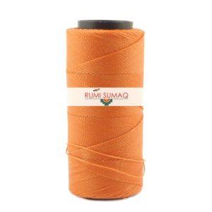 Settanyl 03-030 Melon Orange Waxed Polyester Cord 1mm Setta Encerada Naranja | RUMI SUMAQ Waxed Brazilian Threads