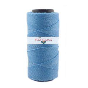 Settanyl 04-070 Caribbean Blue 1mm waxed polyester cord available at Rumi Sumaq. Waxed cord macrame jewelry, friendship bracelets, beading, quilting, leather working