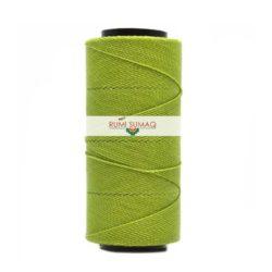 Settanyl 05-1019 Kiwi Green 1mm Waxed Thread | Rumi Sumaq Waxed Polyester Cords Hilo Encerado