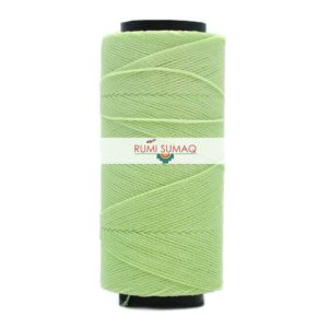 Settanyl 05-1405 waxed polyester cord in celery green (light pastel green) | RUMI SUMAQ Brazilian Waxed Cord Setta Encerada Verde