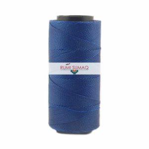 Settanyl 05-298 Blueberry Waxed Polyester Cord 1mm | RUMI SUMAQ Waxed Thread Hilo Encerado Settanyl Brazilian Waxed Cord