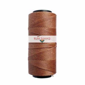 Settanyl 07-083 brown waxed polyester cord 1mm waxed thread (waffle cone) | RUMI SUMAQ Waxed Brazilian Cords