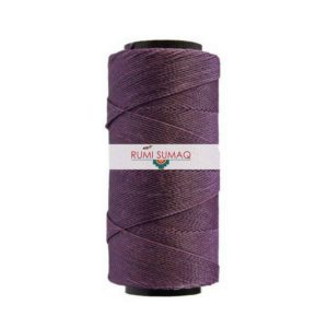Settanyl 07-365 Burgundy Waxed Polyester Cord | RUMI SUMAQ Waxed Cord for Macrame, Knotting, Beading, Basket Weaving, Leather Working, Hand Stitching, Quilting and Jewelry Making