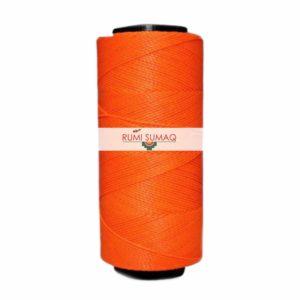 Settanyl 08-393 Blaze Neon Orange Waxed Polyester Cord | Rumi Sumaq Waxed Threads