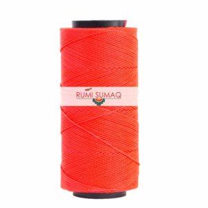 Settanyl 09-327 Hot Coral Waxed Polyester Cord 1mm Waxed Thread | RUMI SUMAQ Setta Encerada