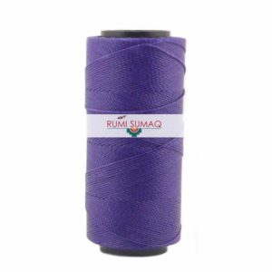 Settanyl 09-369 Imperial Purple Waxed Polyester Cord 1mm Waxed Thread | Rumi Sumaq Waxed Brazilian Cords for Macrame Jewelry, Beading, Knotting, Friendship Bracelets, Leather Working and Basketry