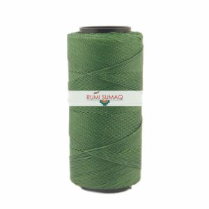 Settanyl Encerado 06-384 Clover Green 1mm Waxed Polyester Cord | Rumi Sumaq Waxed Thread