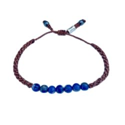 Sodalite Bracelet | Rumi Sumaq Macrame Gemstone Jewelry Handmade on Martha's Vineyard by Designer Coco Paniora Salinas