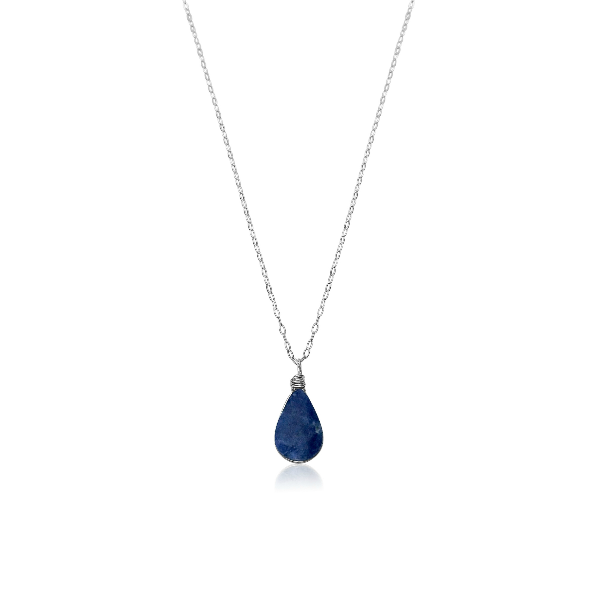 Sodalite Silver Necklace by RUMI SUMAQ