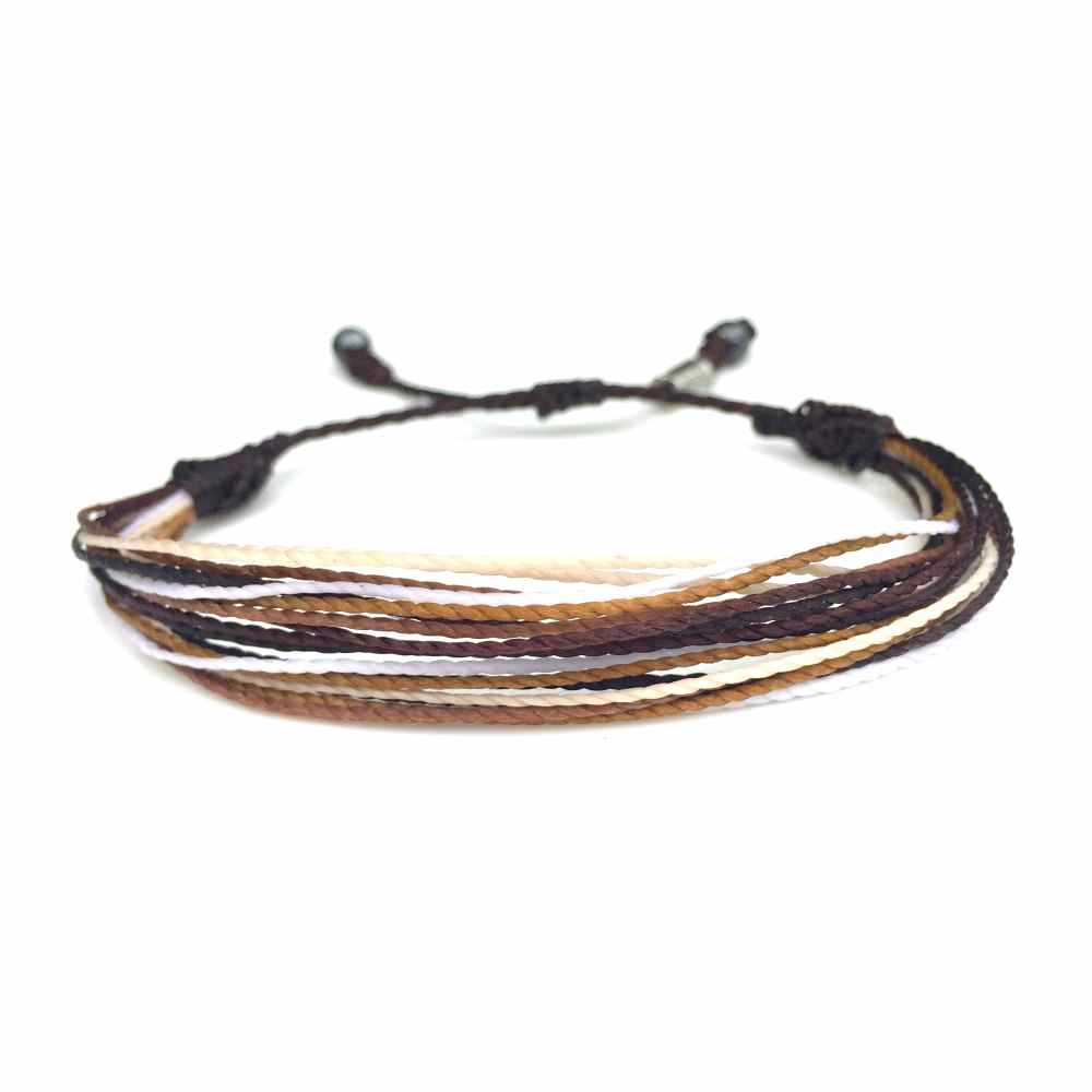 braided waxed vermeil in faceted beads friendship bracelet cord pin with