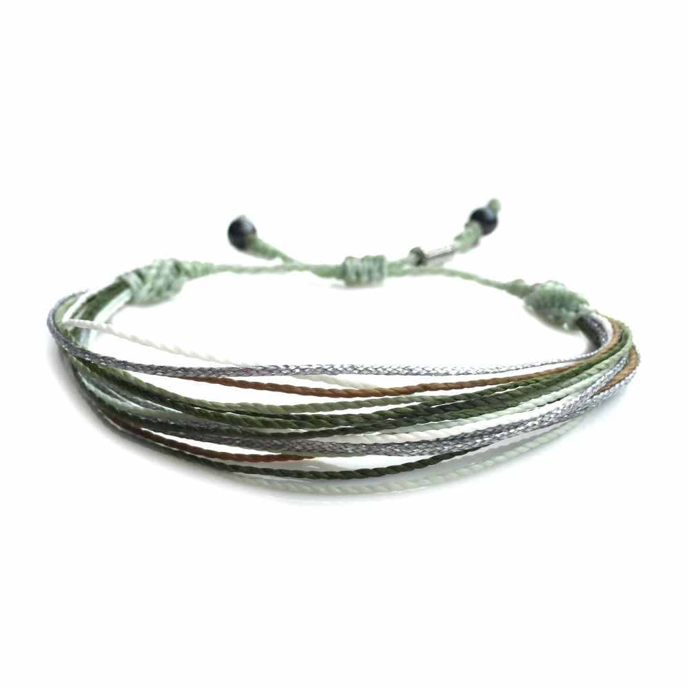 String Surfer Bracelet Green Multi - Rumi Sumaq Surfer Bracelets Handmade on Martha's Vineyard