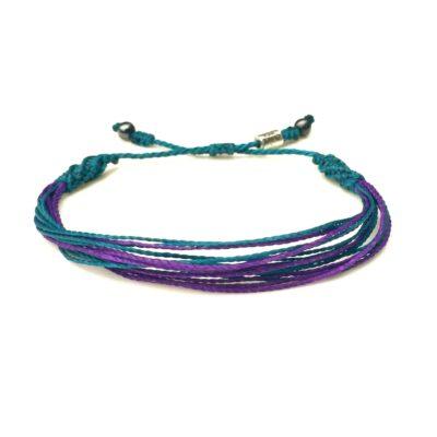 Suicide Awareness Bracelet Teal and Purple Wristband   RUMI SUMAQ Aware Bracelets Cause Jewelry