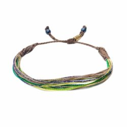Surfer String Bracelet Green Yellow Tan Purple | Rumi Sumaq Surf Bracelets