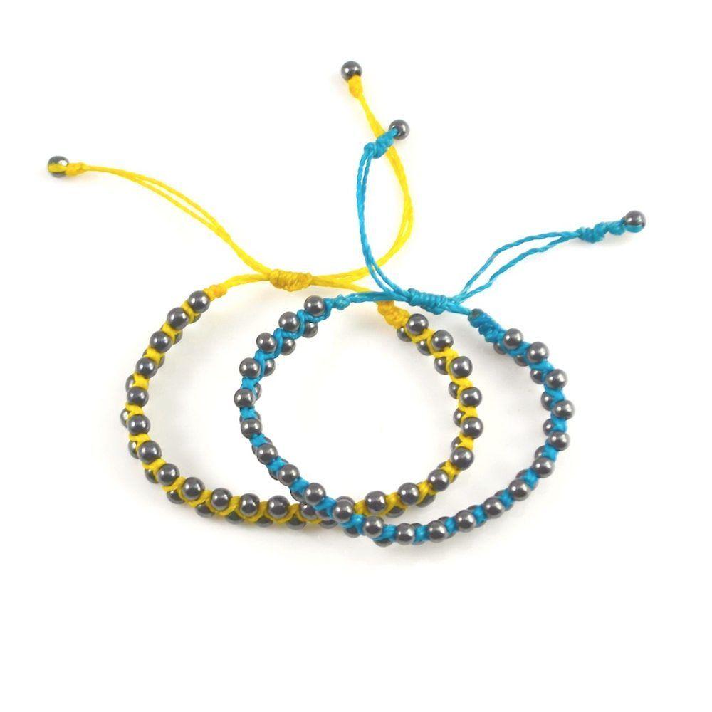 Tullpu macrame bracelet with Hematite stones