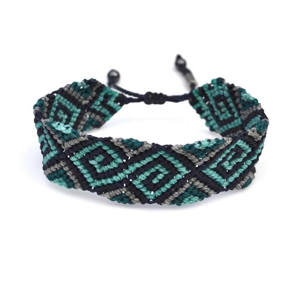 Uchu macrame bracelet by designer Coco Paniora Salinas of Rumi Sumaq