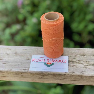 Waxed Thread Linhasita 216 Peach Waxed Polyester Cord | RUMI SUMAQ Spools of Brazilian Cord