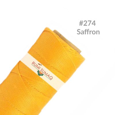 Waxed Thread Linhasita 274 Saffron Yellow Orange | RUMI SUMAQ Waxed Polyester Cords
