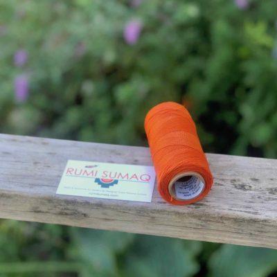 Waxed Thread Linhasita 30 Orange 1mm Waxed Polyester Cord   RUMI SUMAQ Linha Encerada