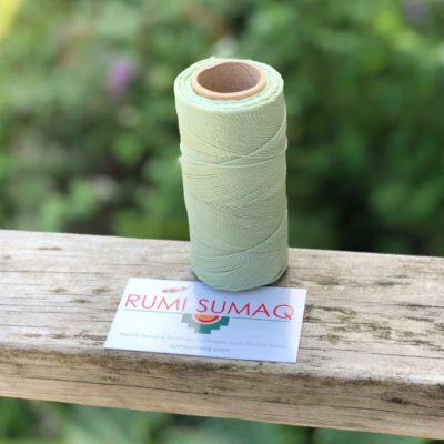 Waxed Thread Linhasita 397 Mint Green 1mm Waxed Polyester Cord Linha Encerada Verde Clara | RUMI SUMAQ Macrame Cords