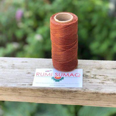 Waxed Thread Linhasita 631 Cinnamon 1mm Bobbin Waxed Polyester Cord Linha Encerada | RUMI SUMAQ Macrame Cords