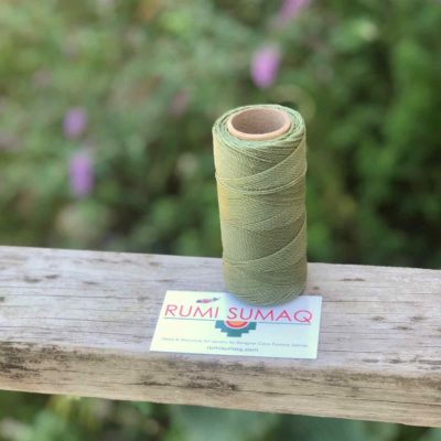 Waxed thread Linhasita 90 Sage Green 1mm Waxed Polyester Cord | RUMI SUMAQ Hilo Encerado Verde